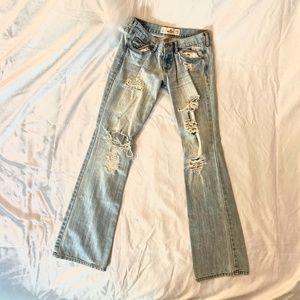 Destroyed Lightwash Jeans (SHORT)